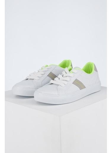 DeFacto Erkek Çocuk Bağcıklı Sneakers Ayakkabı Beyaz